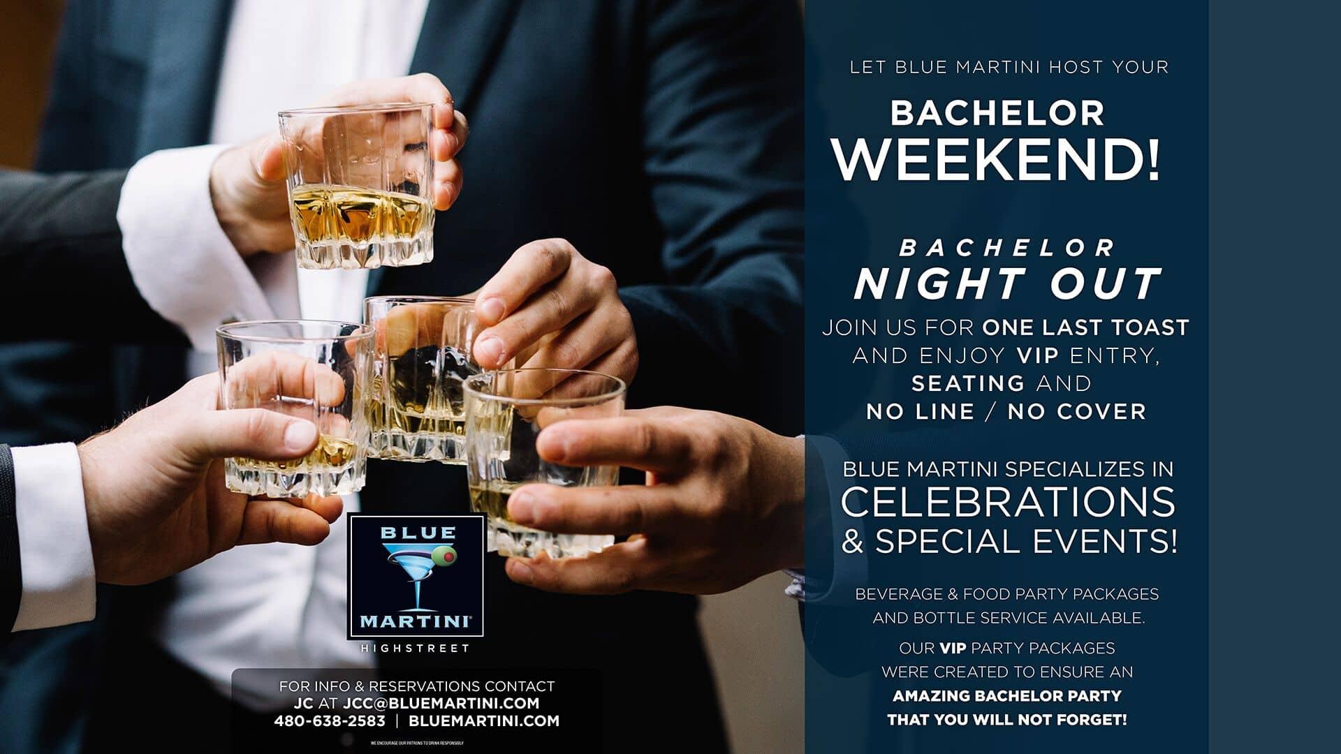 Blue Martini flyer